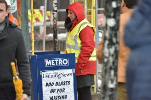 Metro Newstand and Vendor