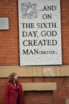 And On The Sixth Day God Created Manchester Sign