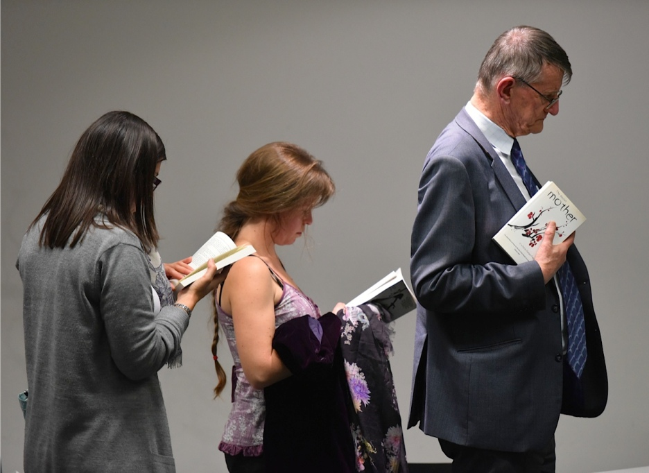 Readers queue for book signing